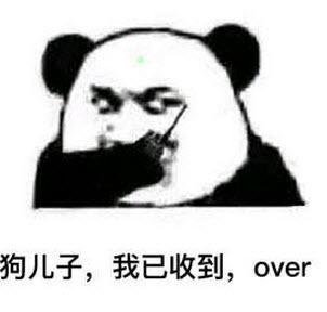 表情 熊猫收到over表情包 蘑菇头收到请回话over表情包图片带字无水印