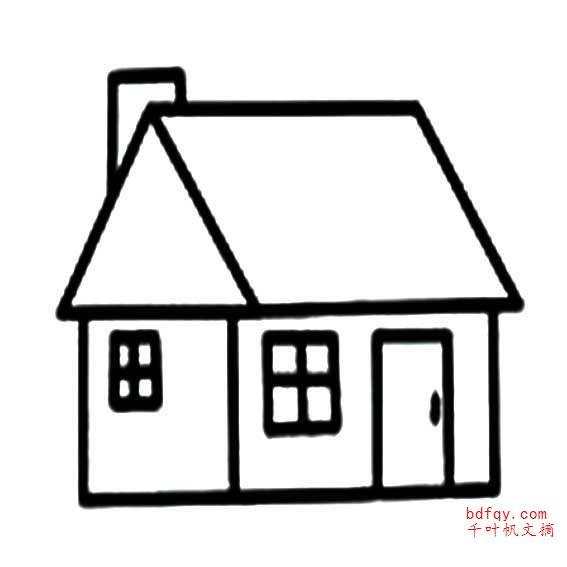 表情 怎么画房子简笔画 ,建筑简笔画 千叶帆文摘 表情