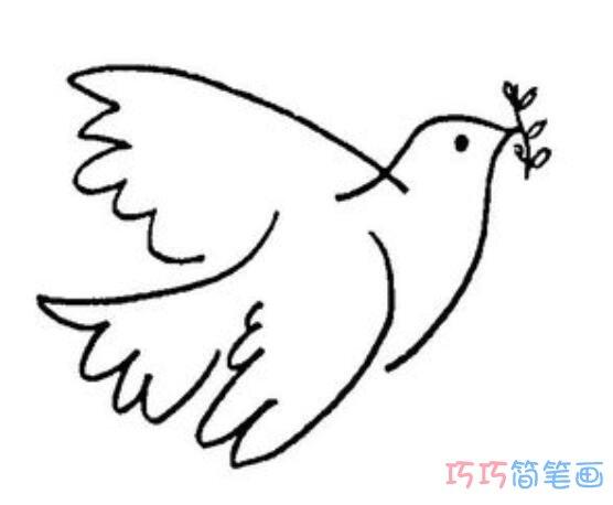 表情 和平鸽橄榄枝怎么画 鸽子简笔画图片 巧巧简笔画 表情