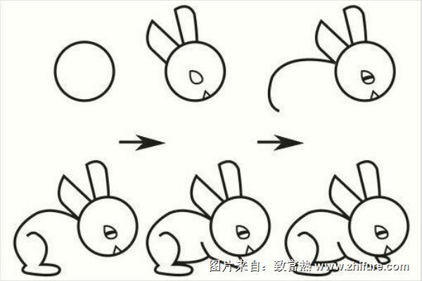 表情 兔子简笔画怎么画步骤 兔子简笔画图片大全 致富热 表情