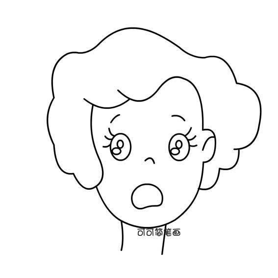 表情 人物头像简笔画面部表情 第1页 一起QQ网 表情图片
