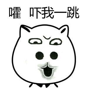嚯吓我一跳-表情 猥琐猫表情 猥琐猫带字系列 猥琐猫恶搞图片大全 九