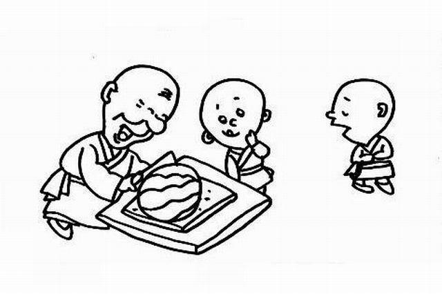 老和尚和小和尚简笔画图片集 8 老和尚和小和尚简笔画人物简笔画