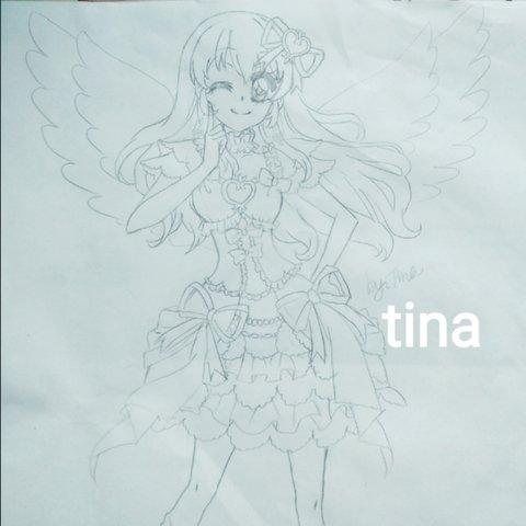 tina-表情 幸运星小魔女 友希爱音的美拍 表情