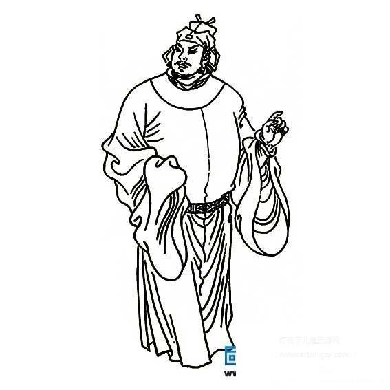 表情 水浒传宋江简笔画,水浒传宋江的简笔画画法 人物简笔画 表情