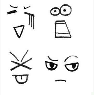 表情 转载 超全表情简单笔画 值得收藏 教宝宝画各种表情 白修鱼 969