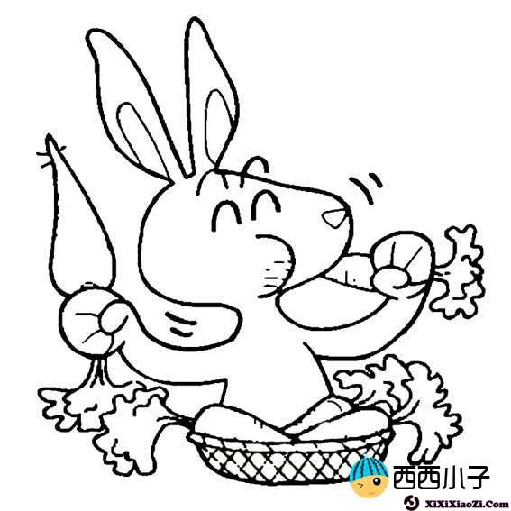 表情 小白兔吃萝卜简笔画卡通图片 2 格格 表情