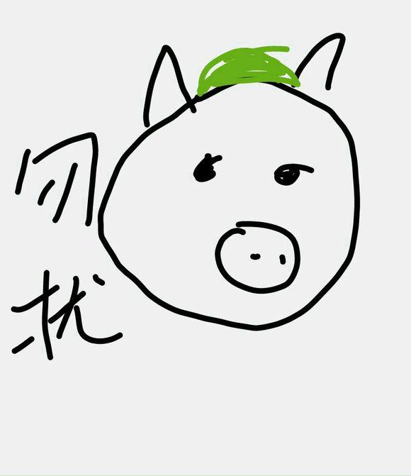 表情 猪头简笔画 动物简笔画 表情