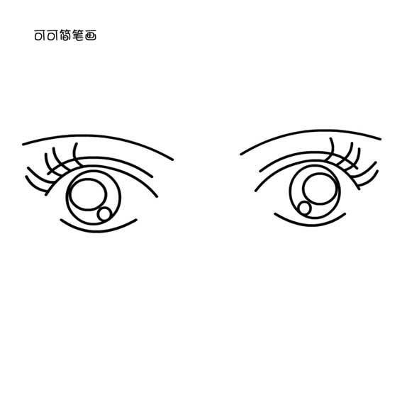 表情 眼睛简笔画表情 第1页 一起QQ网 表情