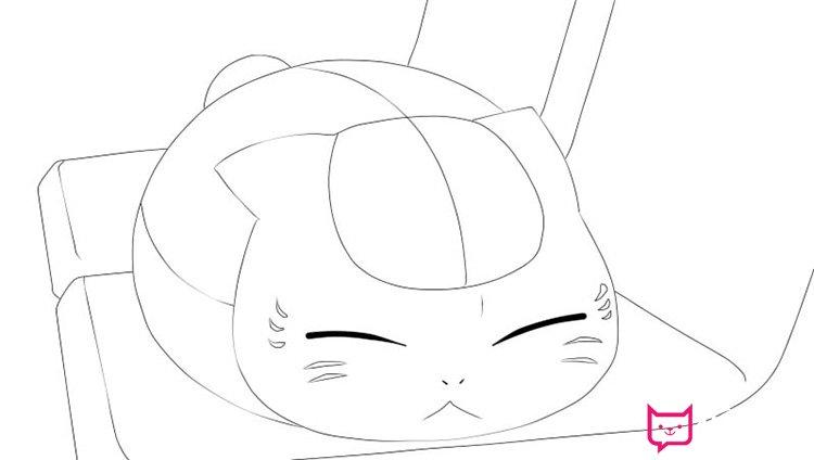 表情 夏目友人帐猫咪老师简笔画图片 板报网 表情