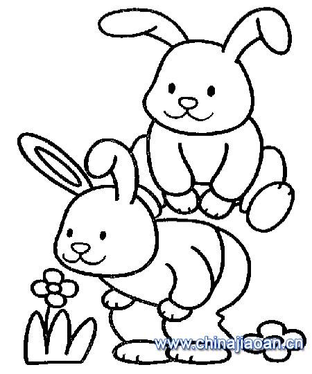 表情 教你画两只小兔子的简笔画教程简笔画 教你画两只小兔子的简笔画教程图片  表情