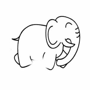 表情 萌卡通表情简笔画超萌卡通大象简笔画 第6页 乐乐简笔画 表情