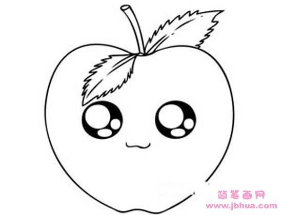 表情 卡通苹果简笔画图片 简笔画网 表情
