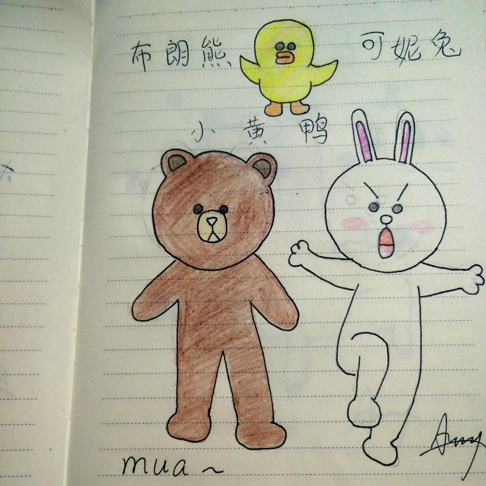 表情 布朗熊简笔画 图片素材 表情