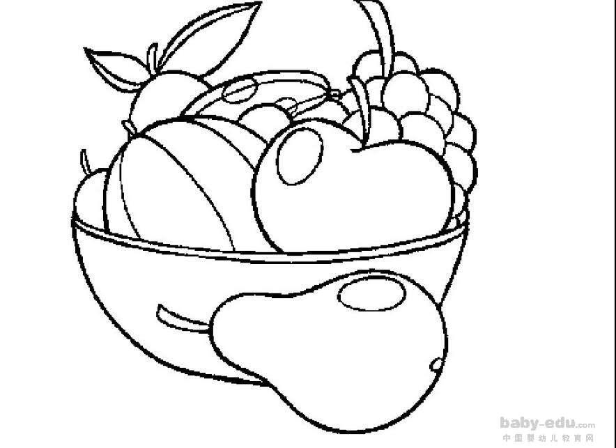 表情 水果简笔画图片大全大图 爱吃水果身体好 水果简笔画 中国婴幼儿教育网 表情