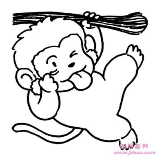 表情 超萌小猴子简笔画图片 简笔画网 表情