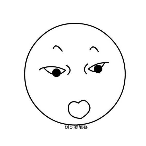 情 惊讶的表情图片简笔画 18张 表情图片 表白图片网 表情