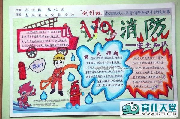 表情 消防安全手抄报简笔画图案,暑假安全手抄报消防安全教育篇 育儿天堂 表情