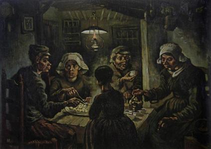 梵高-The Potato Eaters 吃马铃薯的人
