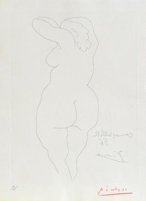 毕加索-Female Nude Viewed from the Back