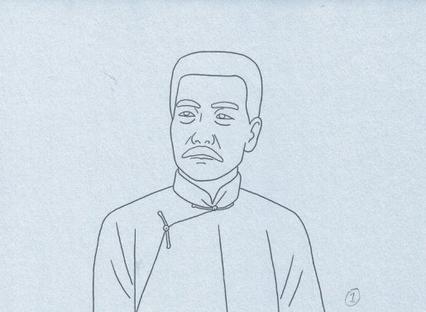 鲁迅素描头像步骤图