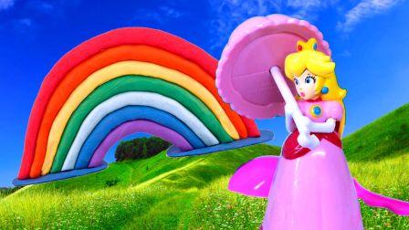 帮迪士尼公主用橡皮泥手工制作七色彩虹玩具 492