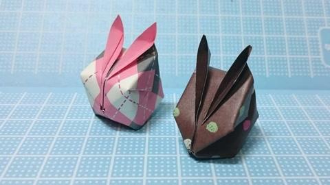 折纸教学 手工兔子