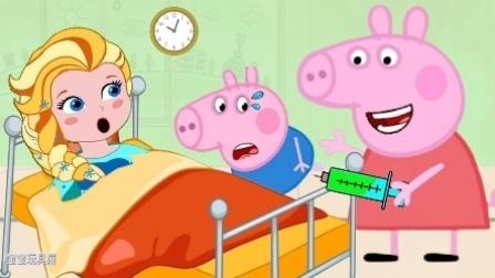 生病的可爱小猪