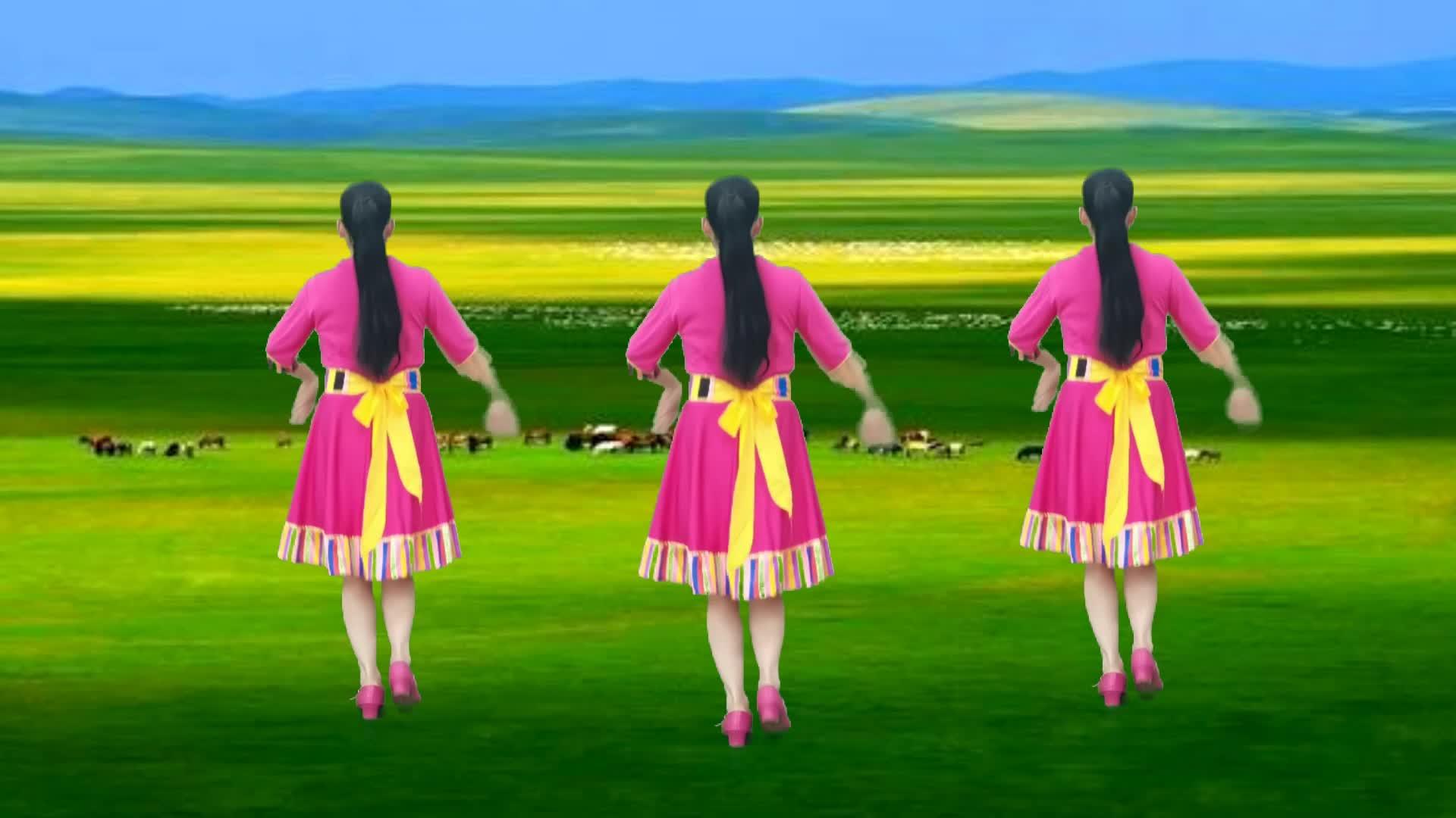 草原天籁广场舞《雪山阿佳》优美大气