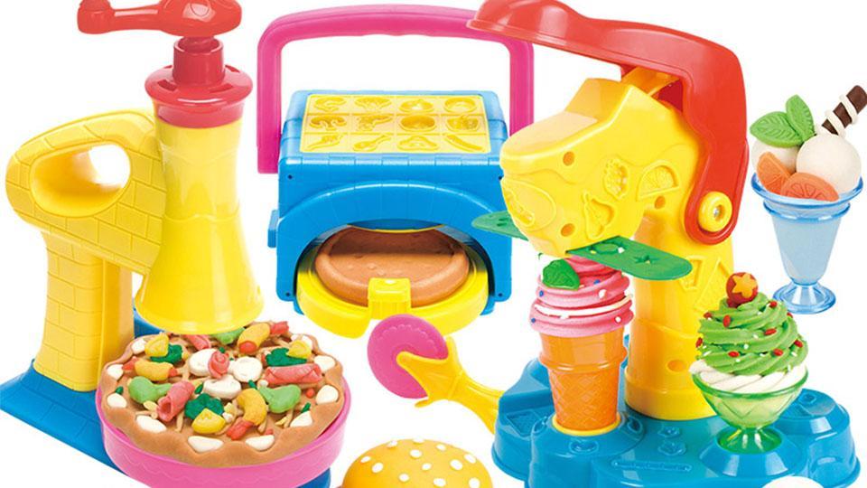小猪佩奇彩泥披萨汉堡冰淇淋套装玩具
