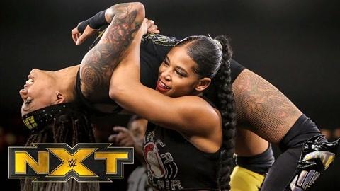 NXT女子单打赛 贝莱尔上演凶残抱摔完胜卡特