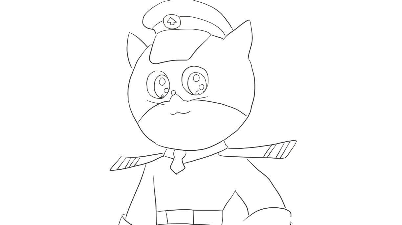 黑猫警长儿童亲子简笔画