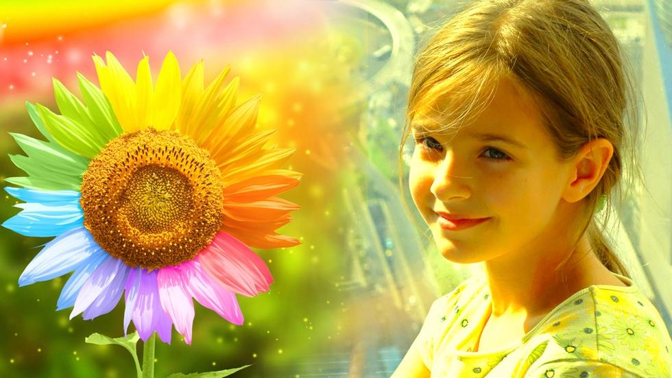 【我爱涂鸦】调皮的太阳花 教你画可爱的向日葵宝宝 简笔画儿童涂鸦01