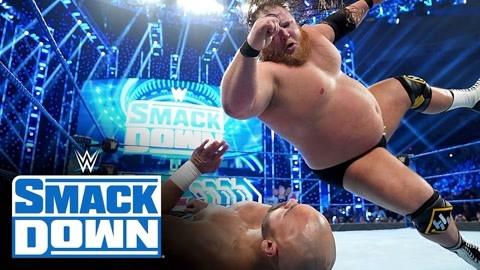 WWE多人混战!被大胖子飞扑碾压的感觉不好受
