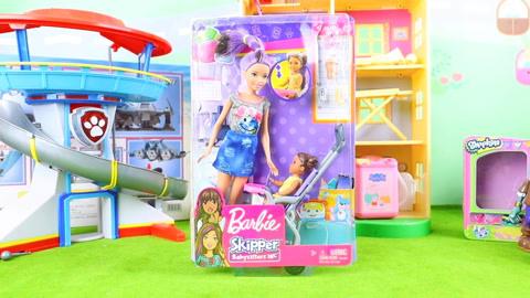 芭比娃娃:姐妹婴儿人仔娃娃玩具拆箱