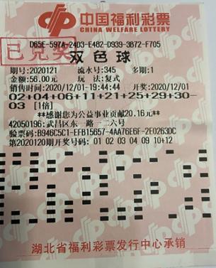 武漢單註1935萬元彩票照片在此,沾沾喜氣很有必要