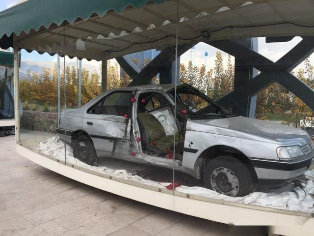 伊朗的特殊博物館:每輛佈滿彈孔的汽車裡,都有一位核專傢死亡