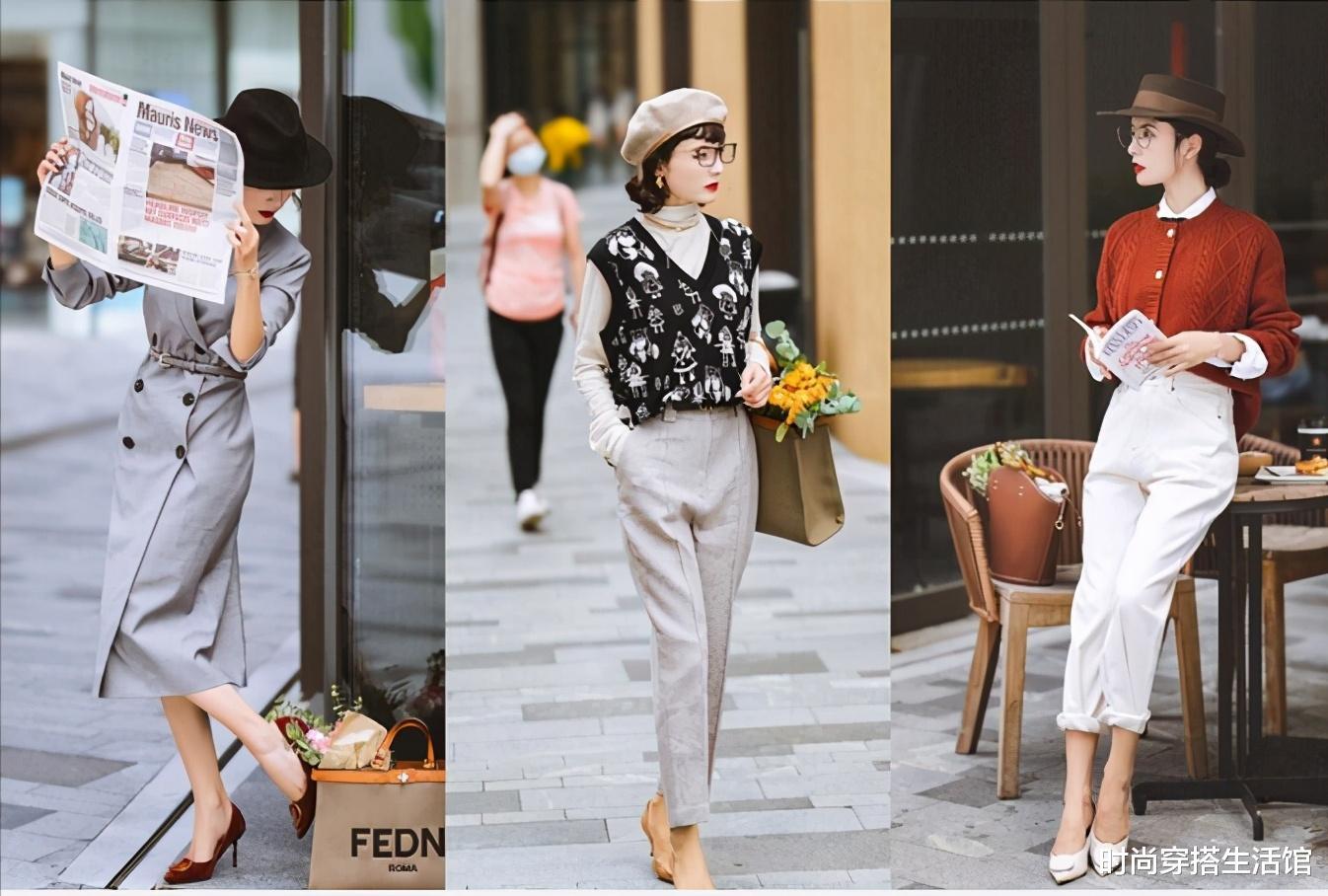 這才是真正用心打扮的女人,優雅法式風穿搭示范,時髦更有女人味