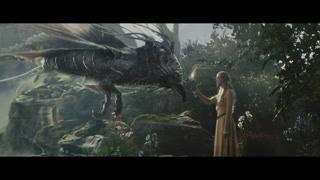 奥萝拉公主见到奇幻的精灵生物