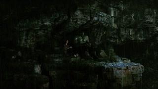绿巨人害怕打雷罗斯安抚绿巨人不要害怕这只是在下雨
