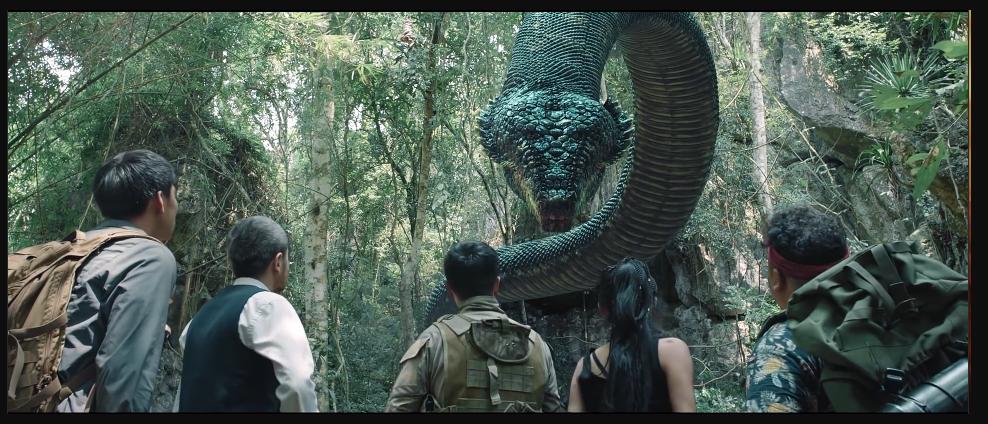 大蛇:探险小队踏入无人荒岛 惨遇史前巨蛇被当口粮