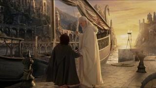 佛罗多跟好友告别后 跟随甘道夫离开了夏尔