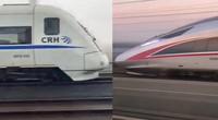 """实拍两辆高铁行驶中""""飙车"""" 交警:追不上"""