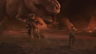 面对恐龙的追击 崔佛心生一计竟然成功了