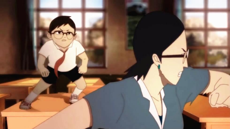 超火爆的国产讽刺短片《红领巾侠》小学生变身超人殴打老师!