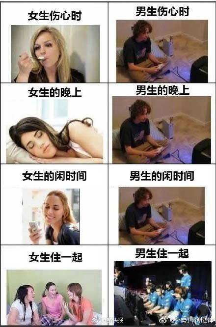 女生逛商场vs男生逛商场……一组图告诉你男生跟女生的区别