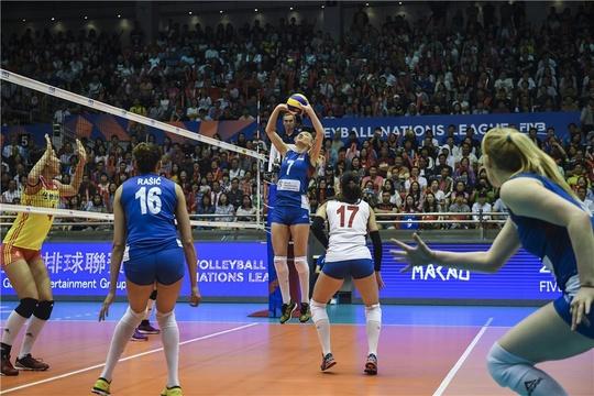 世界女排联赛中国vs塞尔维亚