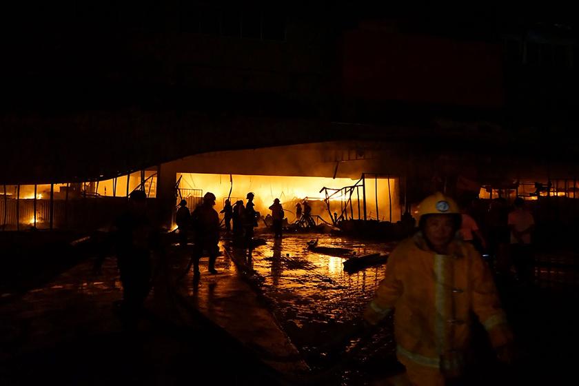 搜狗图片-share555菲律宾南部发生6.3级地动 本地一阛阓震后起火(3)
