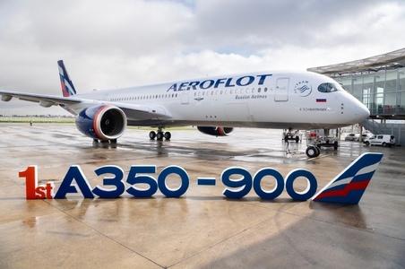 俄罗斯航空接收其首架A350飞机