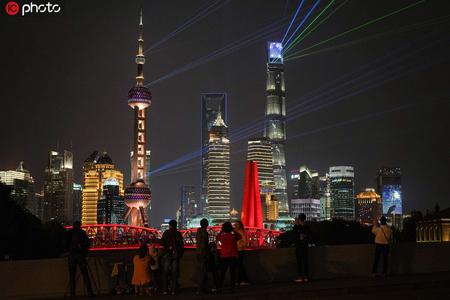 黄浦江两岸再次上演光影秀!开放的上海欢迎八方客人
